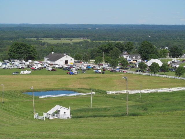 Bluegrass view from hill